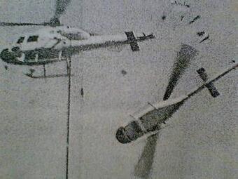 1984年7月31日兵庫県明石市 毎日新聞社の取材ヘリコプターと朝日放送のチャーター機が空中衝突チャーター機の乗員3人が死亡・ヘリの3人が重傷・地上の1人が軽傷