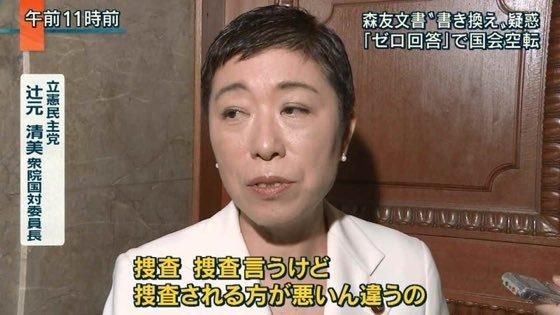 立憲民主党 辻元清美「捜査、捜査言うけど、捜査される方が悪いん違うの」