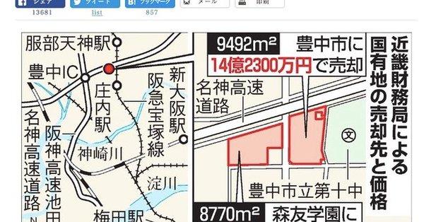 報道ステーションで、野田中央公園は豊中市が国から14億円で買ったと、サラッと報道されておりましたが、正確ではありません。