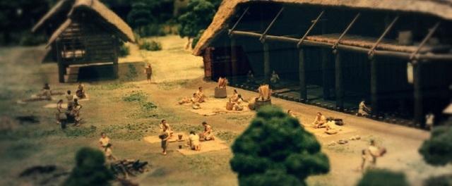縄文時代のジオラマ(国立歴史民俗博物館にて)