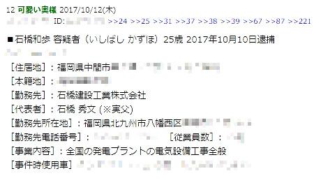 【東名高速デマ】「石橋和歩の父親」デマ拡散11人、名誉毀損容疑で告訴状!5-5