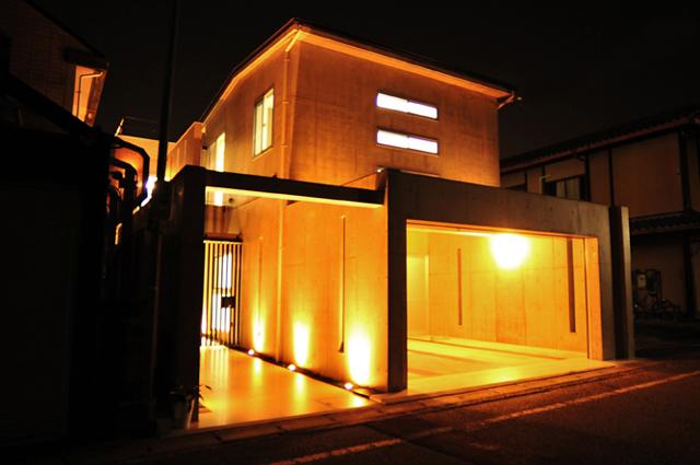注文住宅 京都府京都市北区上賀茂のRC造 モダンなデザイナーズ住宅