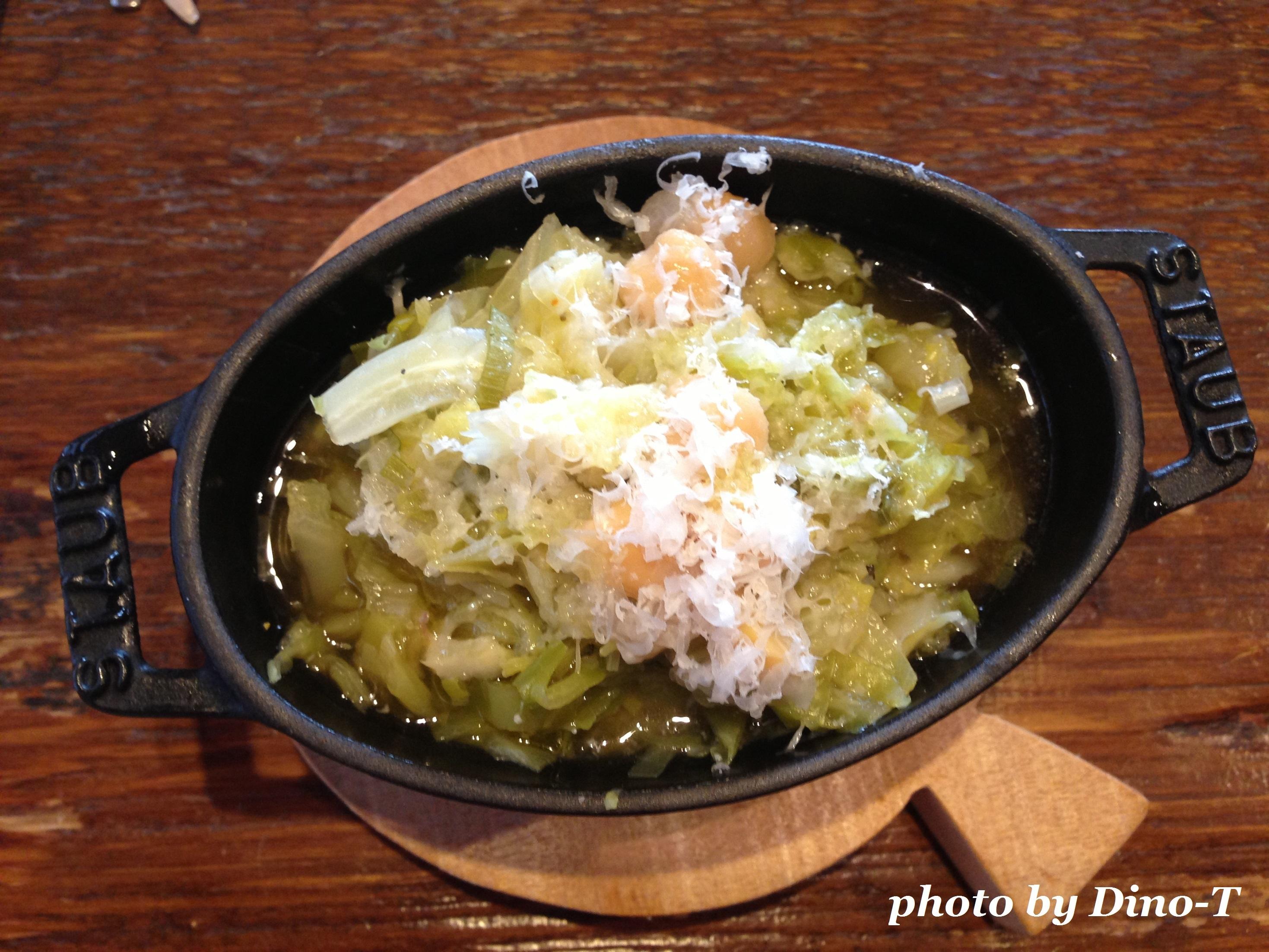 キャベツとひよこ豆のスープ1