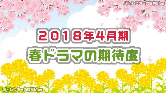 2018年4月期 / 春ドラマの期待度