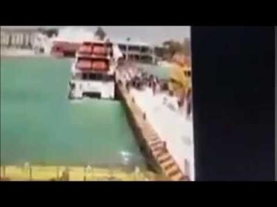 【衝撃!】フェリーがいきなり爆発・・・人が海に投げ出された!