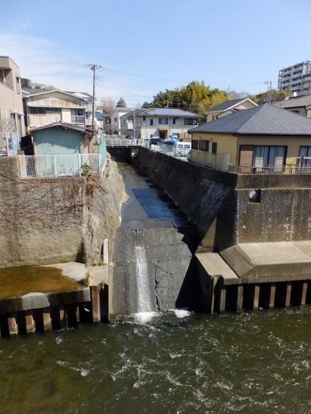 境川に合流する滝川