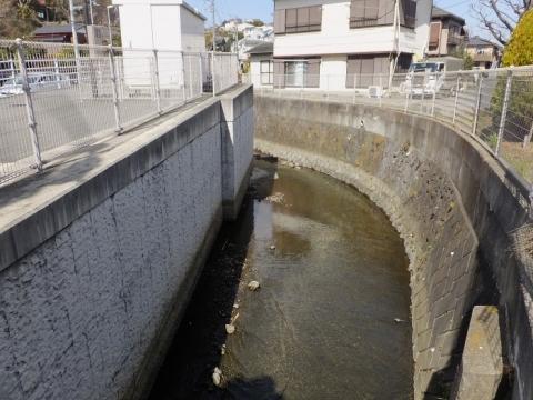 柄沢橋より滝川上流を望む