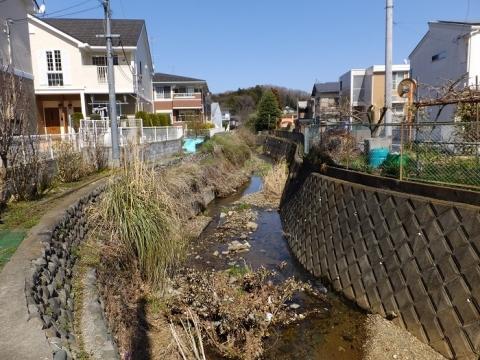 新町屋橋より小松川下流を望む
