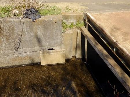 穴川の落差工・農業用取水堰