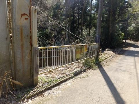 穴川林道ゲート