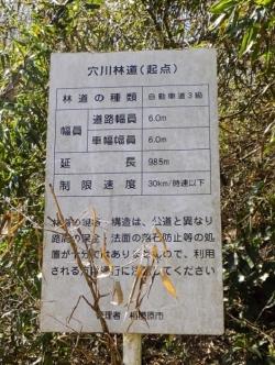 穴川林道標識