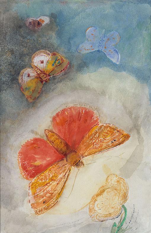 ルドン 蝶と花 1910プチパレ美術館 18㎝ img_subPage09