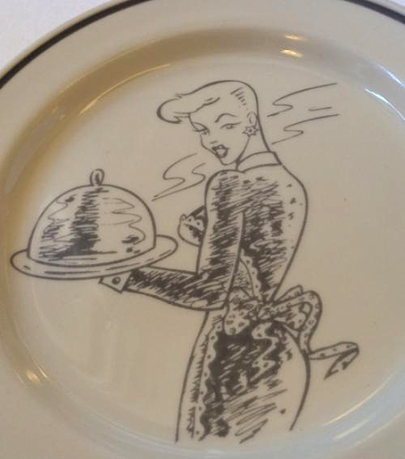 20180311 San Ignocia マダムを描いた皿 16㎝