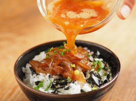 鯛刺身の卵かけご飯016