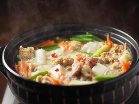 アジのつみれと豚肉の味噌鍋022