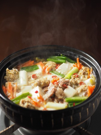 アジのつみれと豚肉の味噌鍋026