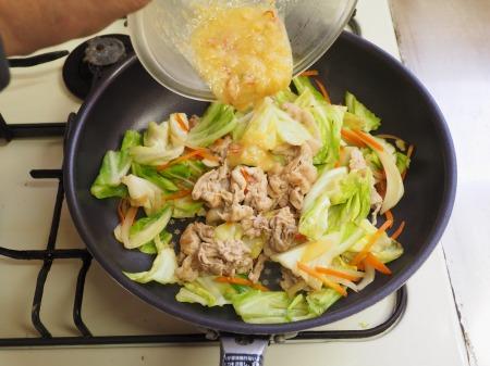 豚キャベツ丼039