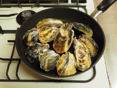 殻付き牡蠣の蒸し方035