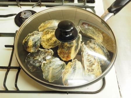 殻付き牡蠣の蒸し方036