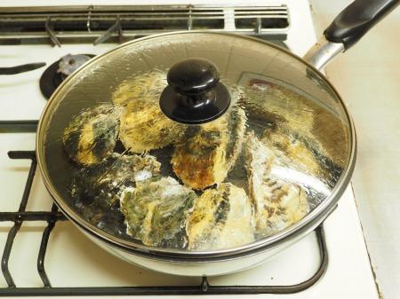 殻付き牡蠣の蒸し方039