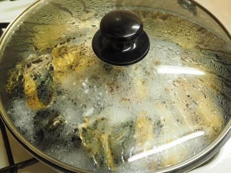 殻付き牡蠣の蒸し方041