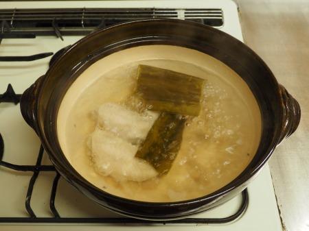 マトウダイとあさりの旨味噌鍋051