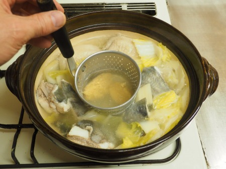 マトウダイとあさりの旨味噌鍋060
