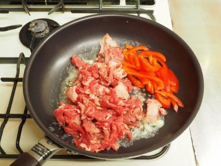 牛こま肉のバターしょう油炒め037