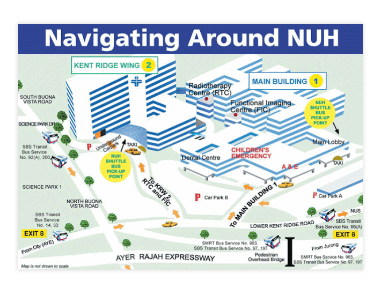 Guide Map National University of Singapore