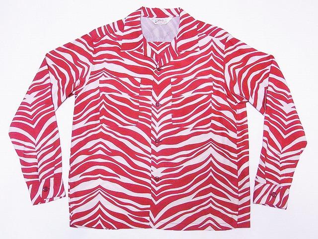 スターオブハリウッド 長袖 オープンシャツ SH27878 ZEBRA