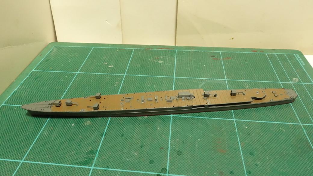 タミヤの1/700 ウォーターラインシリーズ No.349 日本海軍軽巡洋艦 阿武隈 その1