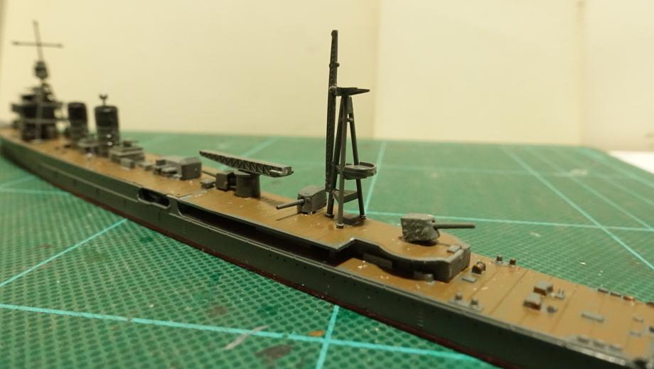 タミヤの1/700 ウォーターラインシリーズ No.349 日本海軍軽巡洋艦 阿武隈 その3