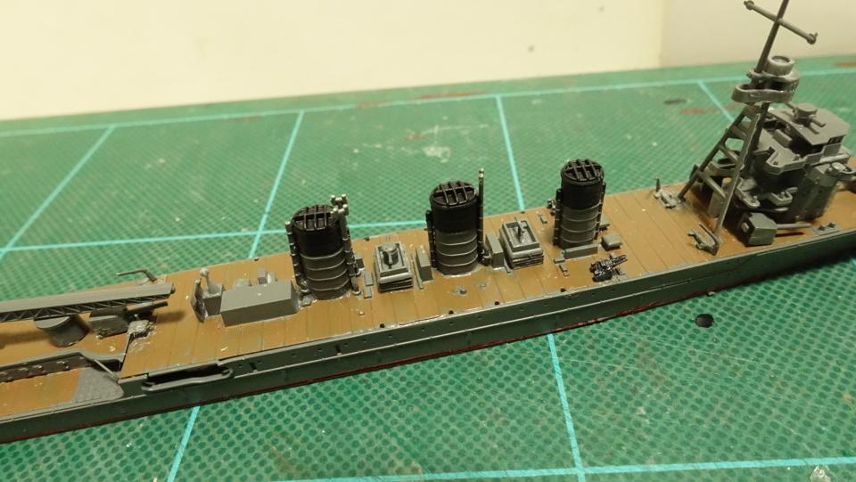 タミヤの1/700 ウォーターラインシリーズ No.349 日本海軍軽巡洋艦 阿武隈 その2
