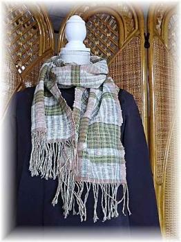 手紡ぎ綿のマズラー