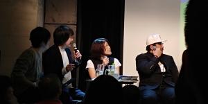 愛川欽也さんと楠田枝里子さん。