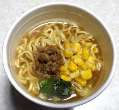 11/6発売 四季物語 冬 札幌系味噌らーめん(できあがり)