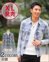 2018春 最新 メンズチェックシャツ メンズスタイル1