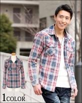 2018春 最新 メンズチェックシャツ メンズスタイル2