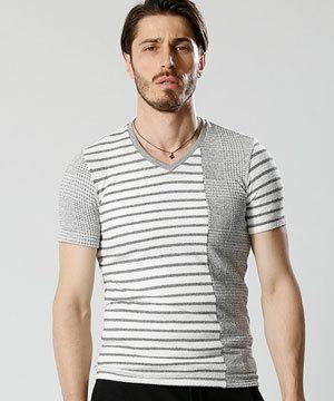 2018 春夏 メンズファッション 半袖Tシャツ カットオフ4