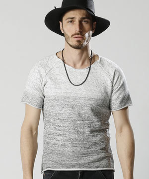 2018 春夏 メンズファッション 半袖Tシャツ カットオフ3