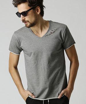 2018 春夏 メンズファッション 半袖Tシャツ カットオフ2