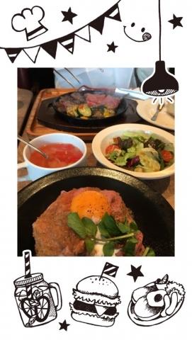 ステーキランチ&ローストビーフ丼ランチ