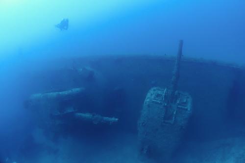 エモンズでダイビング 「USS emmons」