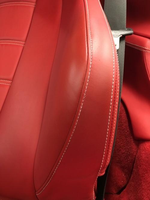 レザーシート スイッチパネル補修 フェラーリ458