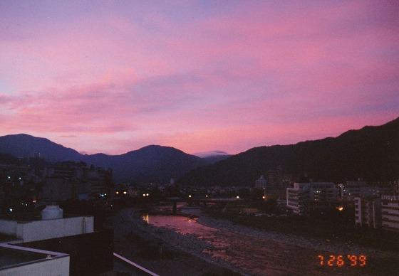 990726下呂温泉の夕焼け