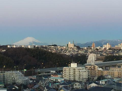 雪の富士さん