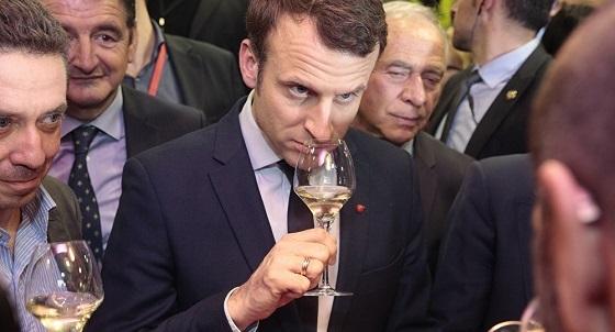 マクロン、ワインが好き