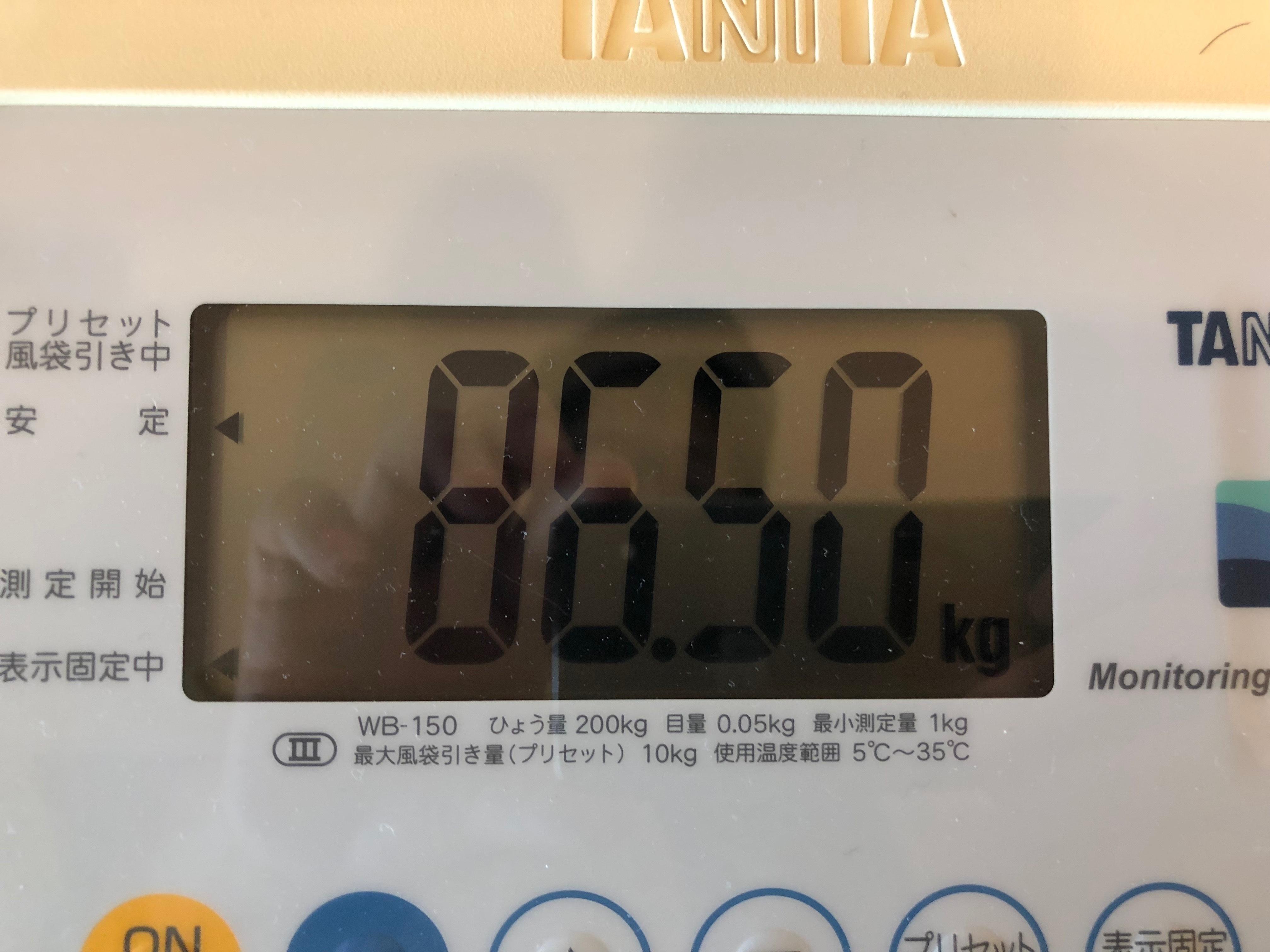 2018年2月末体重