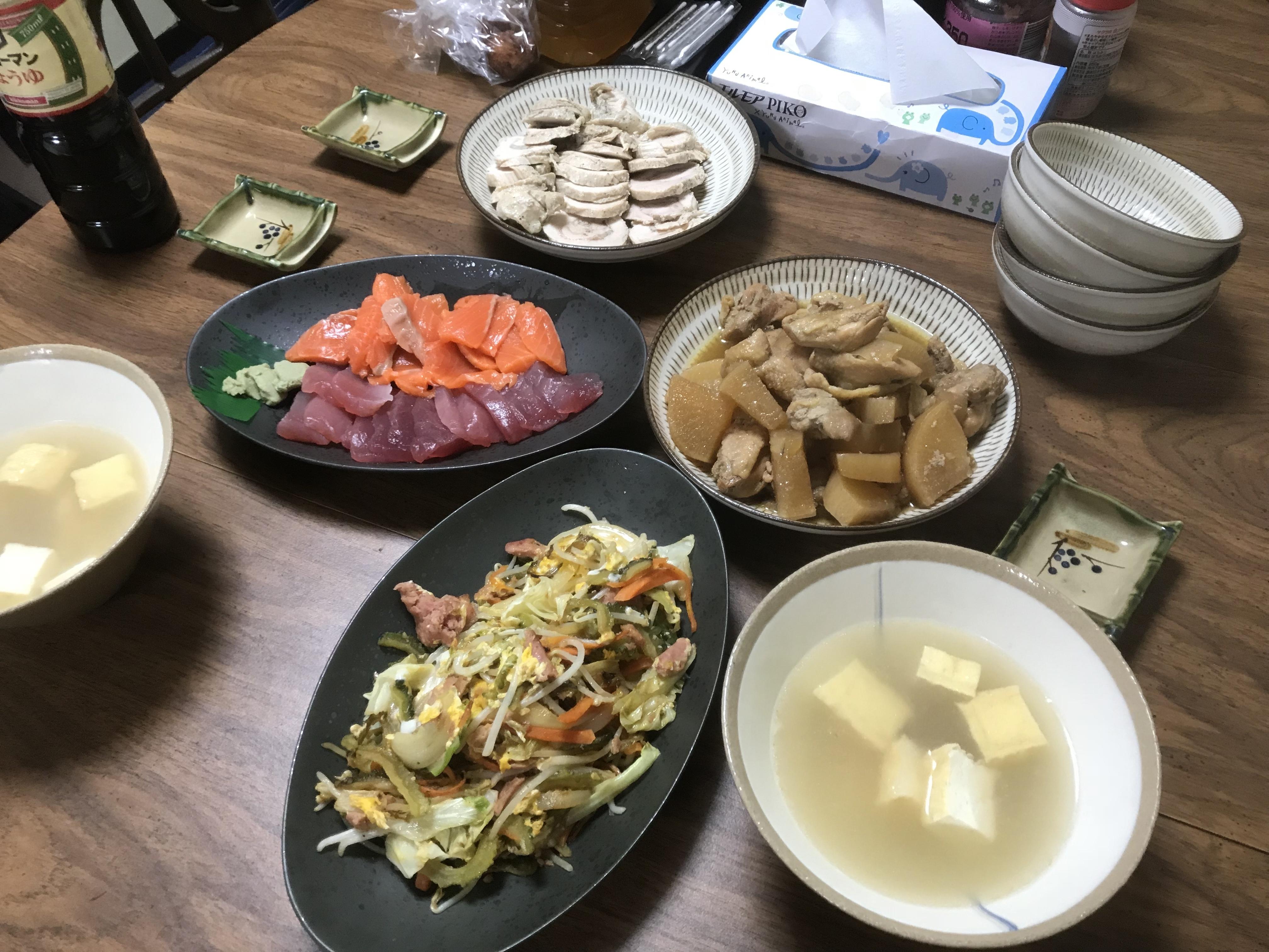 201803沖縄吉本さん宅夕食