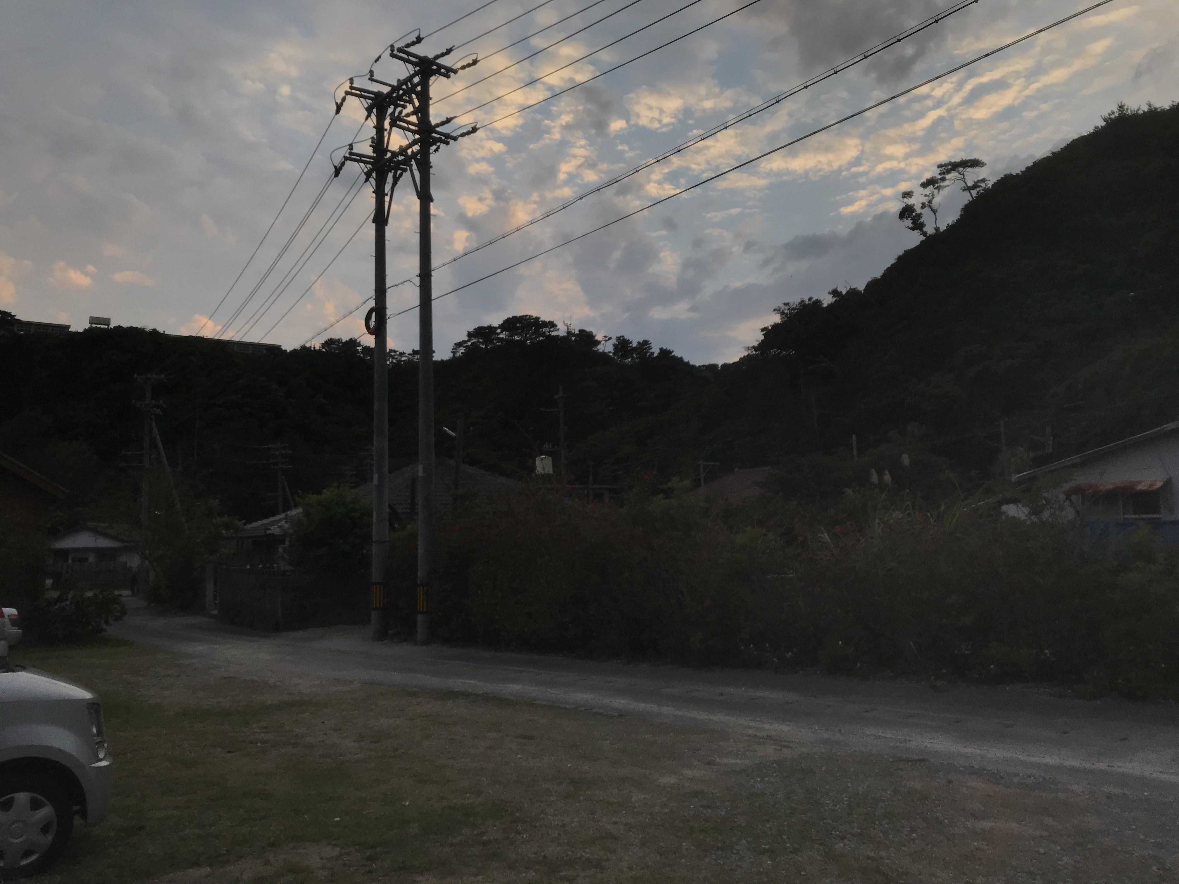 201803沖縄楚洲に到着